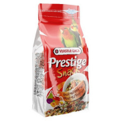 VERSELE-LAGA Prestige Snack Parakeets - przysmak z biszkoptami i owocami dla średnich papug 125g