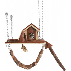 TRIXIE Zawieszany plac zabaw Janne 26 × 22 cm (myszy)