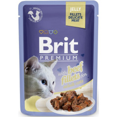 BRIT PREMIUM CAT Beef Jelly Fillets Adult - wołowina w galaretce 85g