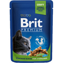 BRIT PREMIUM CAT Adult Sterilised Kurczak saszetka