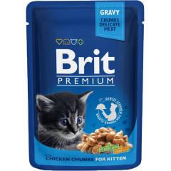 BRIT PREMIUM CAT Kitten Kurczak saszetka