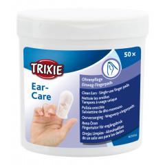 TRIXIE Ear Care Czyste uszy - nakładki na palce 50 szt.