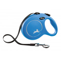 FLEXI Smycz automatyczna New Classic Taśma L (8m) do 50kg - Niebieska