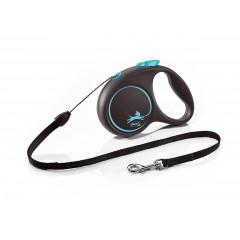 FLEXI Smycz automatyczna Black Design M linka 5 m do 20kg