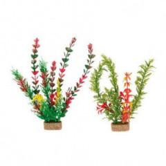 TRIXIE Dekoracja akwarium - Sztuczne rośliny na kamieniu - duże 6 szt.
