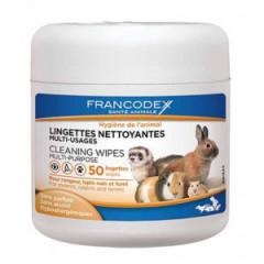 FRANCODEX Chusteczki czyszczące i odświeżające dla gryzoni 50 szt.
