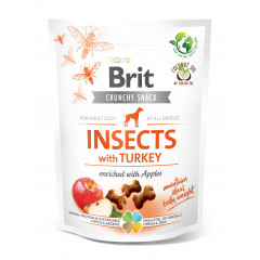 BRIT CARE DOG CRUNCHY SNACK Insects with Turkey 200g