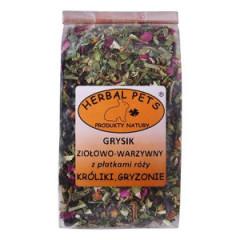 HERBAL PETS Grysik ziołowo - warzywny z płatkami róży 100g