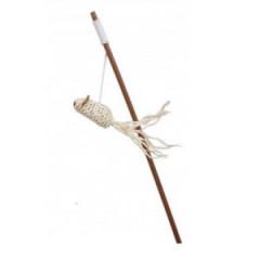 COMFY Zabawka Gaia - wędka z myszką z dzwonkiem 40cm