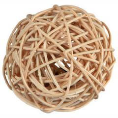 TRIXIE Piłka z wikliny z dzwonkiem 4cm