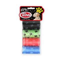 PET NOVA Worki na psie nieczystości - kolorowe