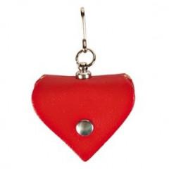 TRIXIE Adresówka do obroży skórzana - serce Czerwona