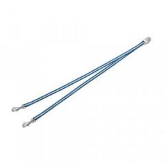 FLEXI VARIO Duo Belt - rozdzielacz na dwa psy - niebieski S