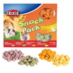 TRIXIE Zestaw snacków dla małych zwierząt - świnki morskie i króliki 4x 35g