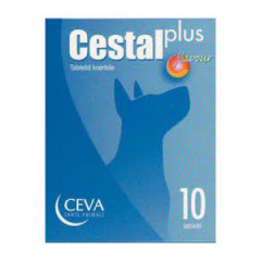 CESTAL Plus Flavour 50 mg + 144 mg + 200 mg - Tabletki dla psów na odrobaczanie (10szt)